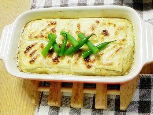 お豆腐の長芋焼き