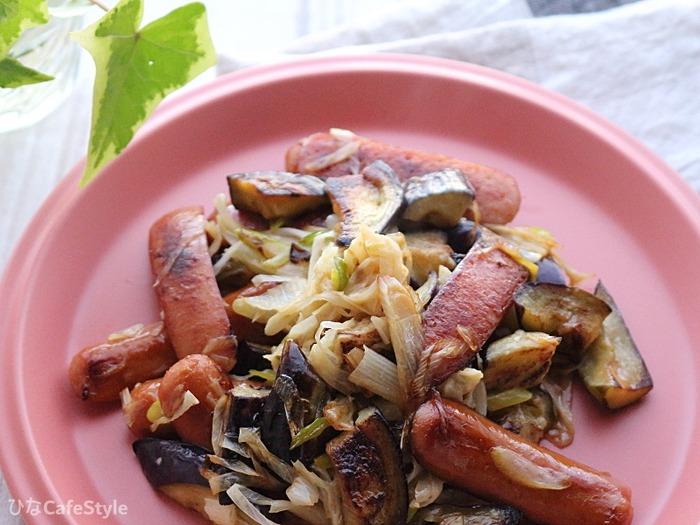 長ネギと茄子のマヨポン炒め☆主菜でも副菜でも!どっちもOKなフライパン調理