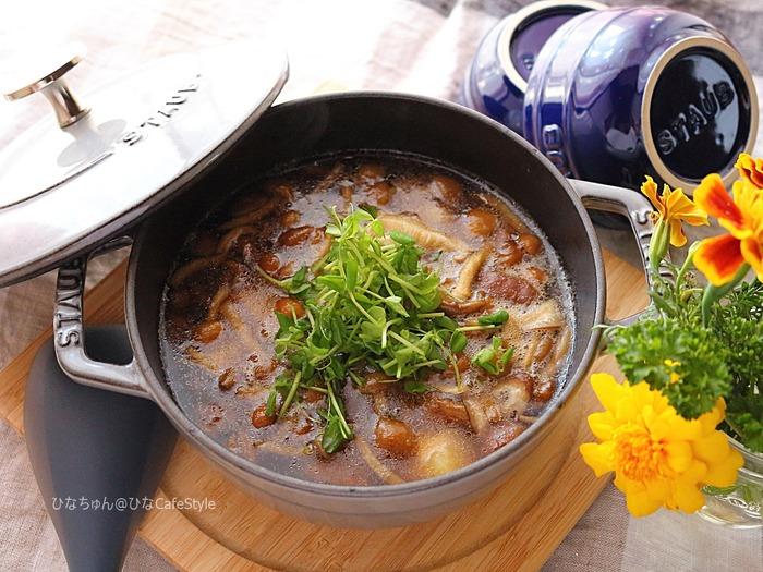お鍋はそのままテーブルへ!豆腐のきのこあんかけ☆ストウブ「Wa-NABE」