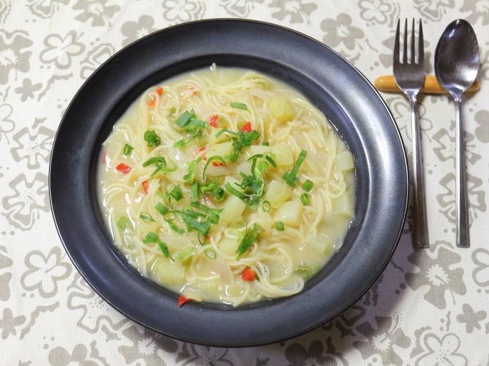 クラムチャウダーのパスタ☆クラムチャウダールゥ使用の簡単レシピ