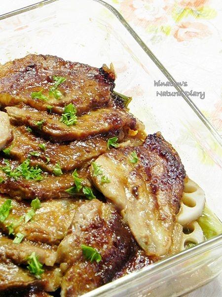 レンジで味噌焼き豚 和風編