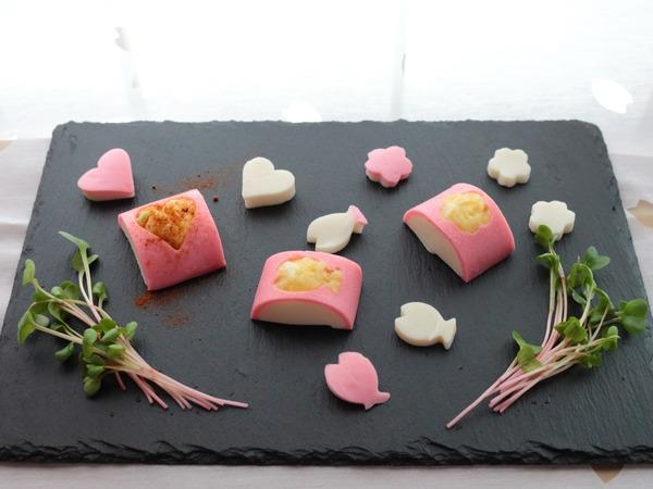 一正蒲鉾の練り製品で作るお弁当のおかず☆第5弾☆鯛入りまめかまのくりぬきポテトサラダ