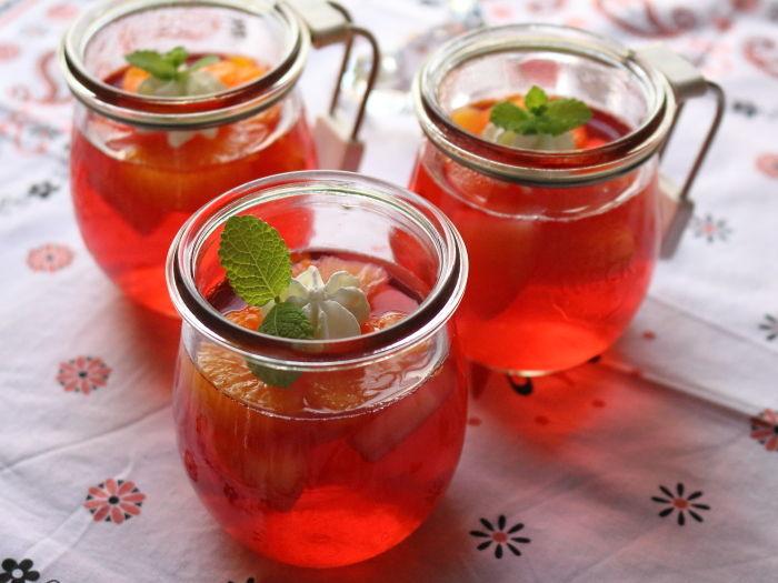 紅い宝石♡フルーツゼリー☆いちじくのコンポート 煮汁リメイク
