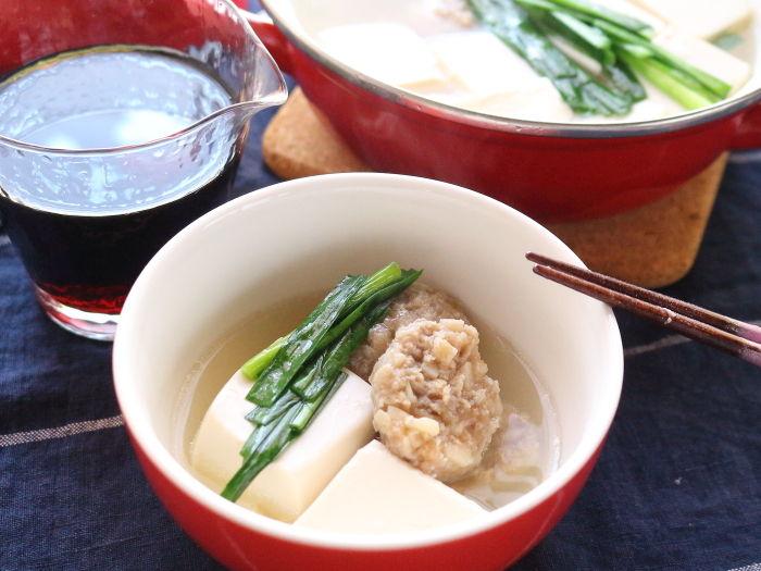 肉団子入り湯豆腐