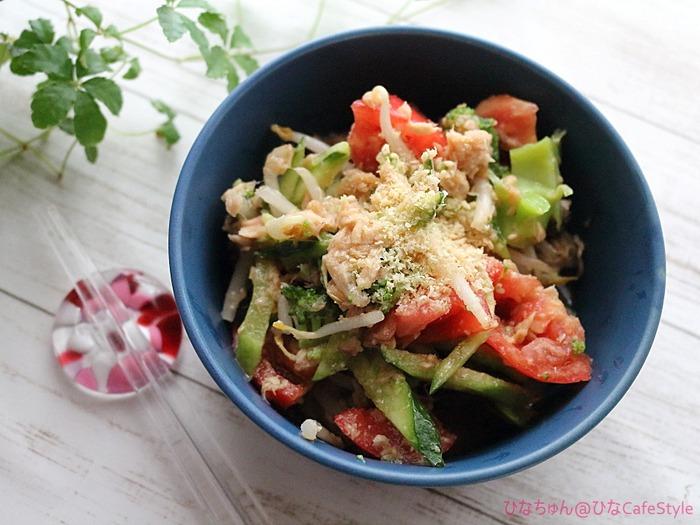 もやしと夏野菜のナムル