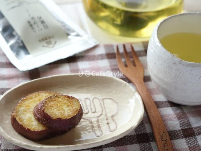 甘じょっぱいさつまいもの揚げおやつ☆美味しいお茶と一緒にどうぞ