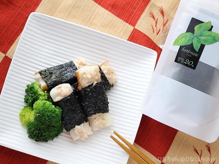 ちくわボートのツナマヨ海苔巻き☆ひとくちおつまみやちょっとした副菜にも♪