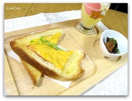 チーズトーストの朝ごはん&3時のおやつ~♪