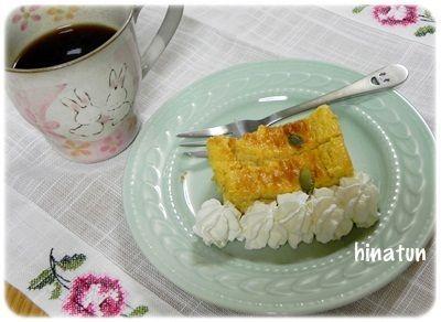 パンプキンケーキの朝ごはんww