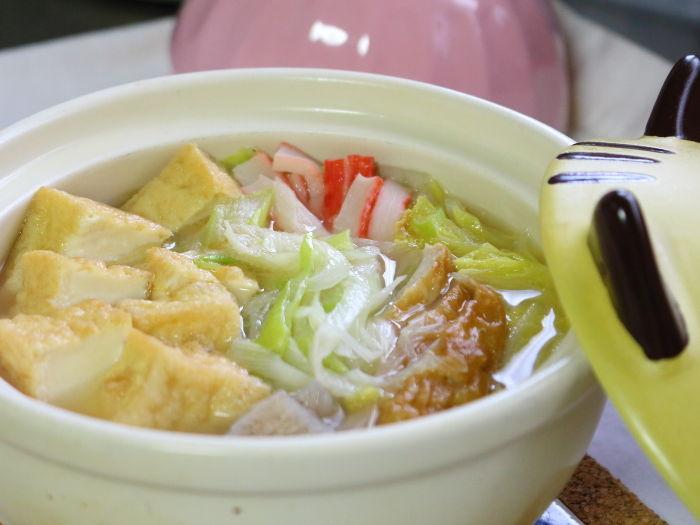 厚揚げと白菜の中華スープ鍋
