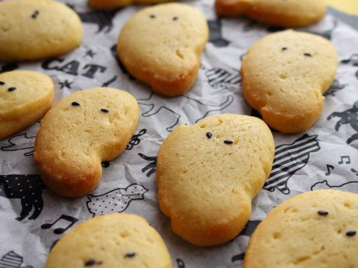 脱力系おばけクッキー