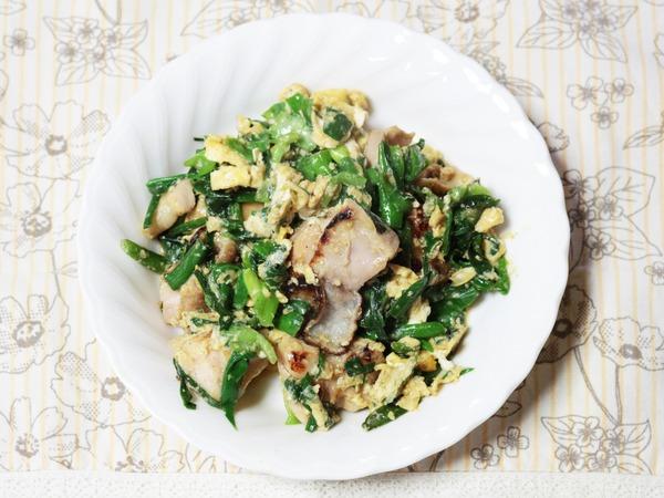 鶏もも肉の青菜チャンプルー1