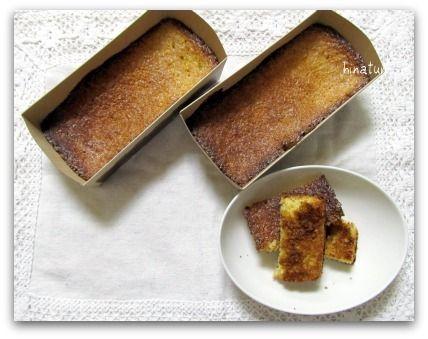パウンドケーキ型でシフォンカステラww