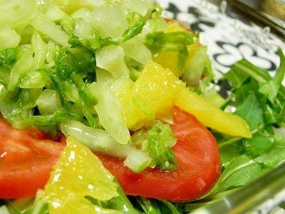 塩レモンの白菜漬けde洋風サラダ
