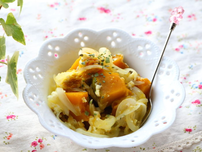 レンジで3分!かぼちゃのクリチーサラダ☆自家製クリームチーズを簡単に作ってみよう♪