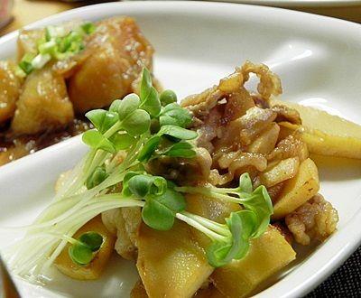 筍料理 第3段 「筍と豚肉の醤油バター炒め」