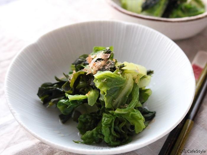 白菜とかつお菜のさっと煮☆白だしでやさしい味わいに