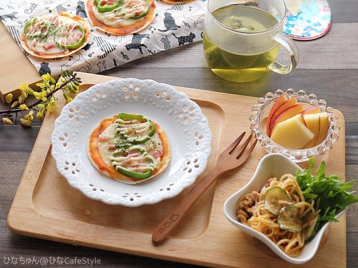 スイートバジル香る餃子ピザ☆【スパイス大使:スイートバジル】休日朝ごはんにおすすめ!