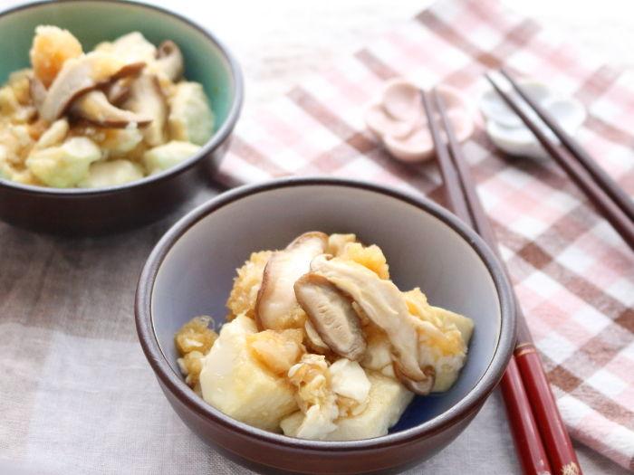 おろしポン酢と豆腐のささっと炒め