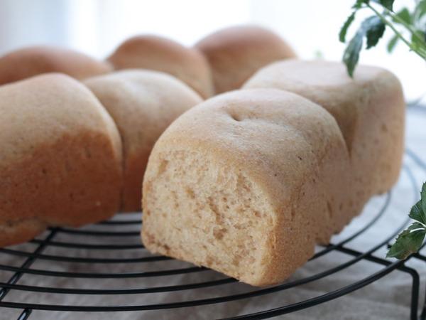 【うきうき米ぬか生活】煎りぬか入りの健康ミニ食パン
