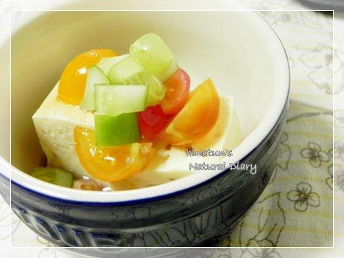 夏野菜のお豆腐サラダ