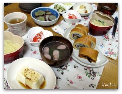 伊達巻寿司とひなまつりの夜ごはん