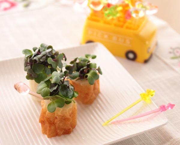 一正蒲鉾の練り製品で作るお弁当のおかず☆第1段☆ちくわのブーケ
