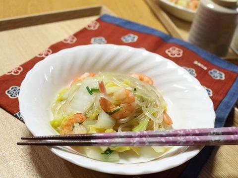 エビと白菜の中華煮