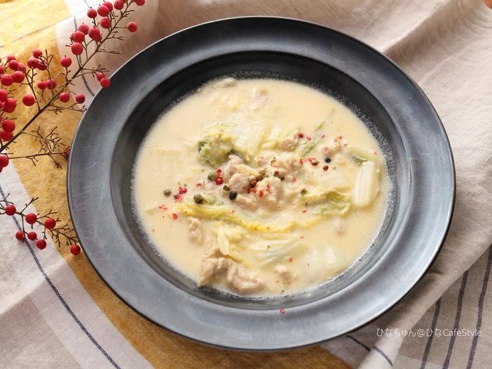 白菜と豚肉のチーズinシチュー