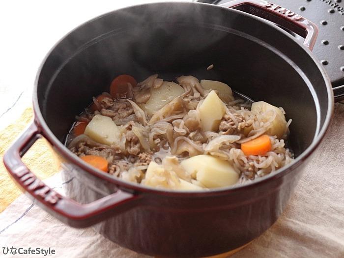 白い肉じゃが☆ストウブでコトコト煮込料理。後半は大阪でお好み焼きの巻