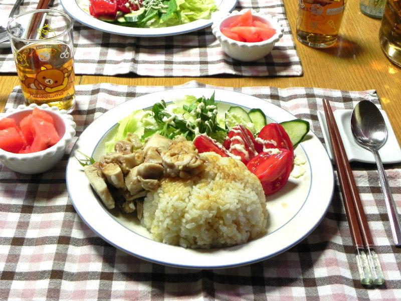 【つくれぽ】炊飯器でパパっと作る海南鶏飯(チキンライス)