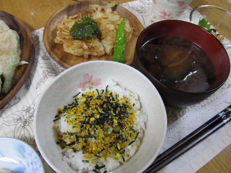 hinatunの!なちゅらる日記-のりたまごはん+お味噌汁