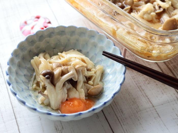 レンジで作る!フルーツ酢を使ったきのこのマリネ☆2日目の方がより美味しい!作り置きお勧めレシピ