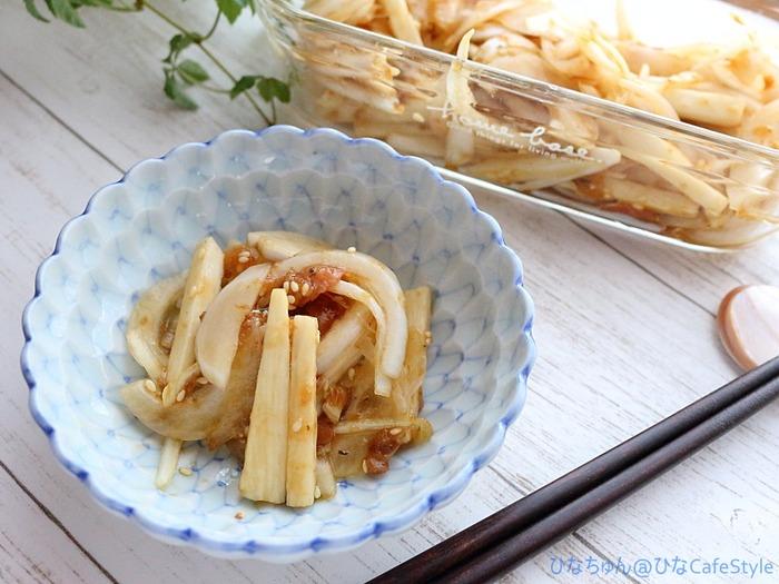 新たまと長芋の梅肉おかか和え☆ちょっと今日は暑いからさっぱりしたものがあると嬉しい♡火を使わない料理&作り置きOK