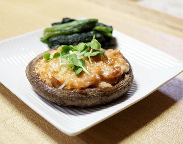 焼鮭のせ椎茸2
