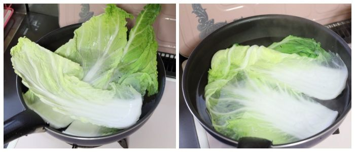 白菜下準備