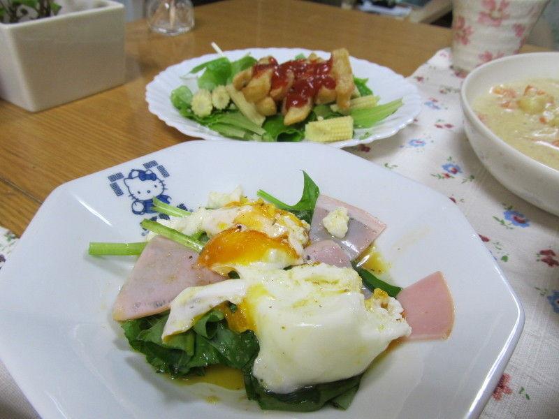 hinatunの!なちゅらる日記-ほうれん草サラダ