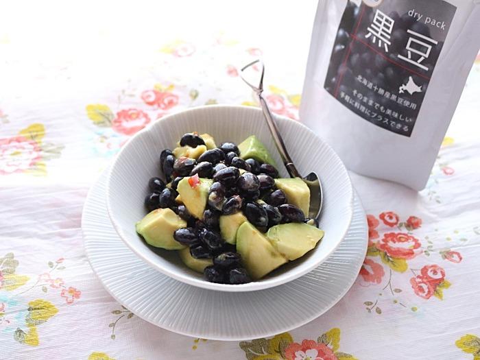 アボカドと黒豆のスイートチリソースサラダ☆年末年始用スペシャルセットがお勧め!