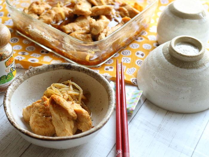 鶏むね肉の味噌煮(鶏ちゃん風味)☆レンジ8分でソウルフードを作ってみる。
