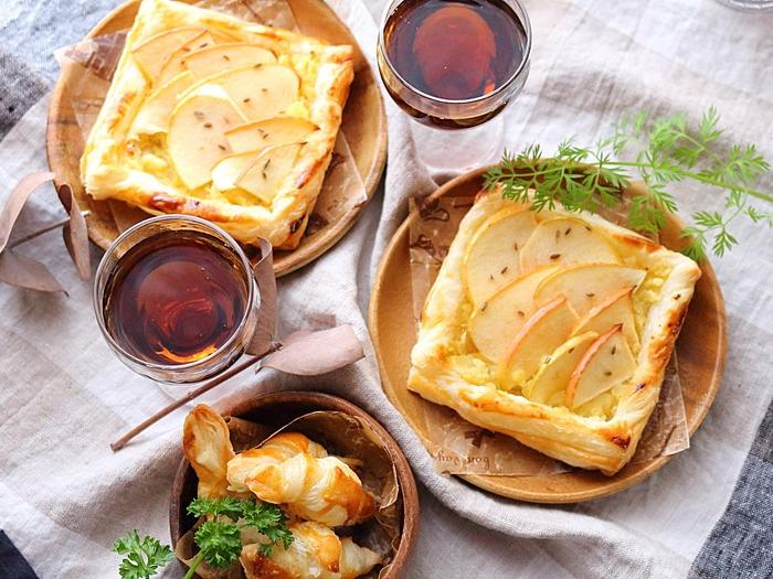 りんごとさつまいものパイ☆冷凍パイシートで簡単秋のスイーツ♪