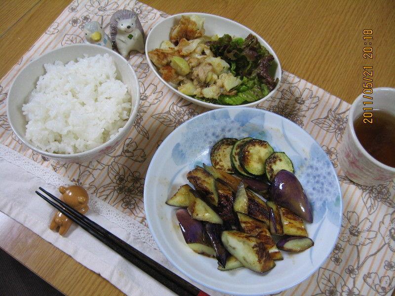 hinatunの!なちゅらる日記-0521ひとり晩御飯