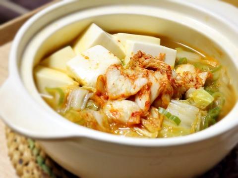 今年お初のキムチ鍋!ほどよくしっかり温まった夜♡