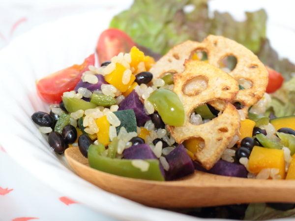 野菜と豆の力で栄養価アップ!「玄米ごはんdeベジライス」☆ダイエットはしたいけどやつれたくはない(笑)