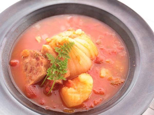 【家庭用電気圧力鍋】で作る「新玉ごろっとミネストローネ」野菜の旨みは自然の恵み♪