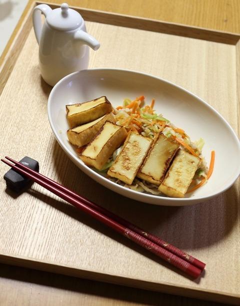 厚揚げと野菜のポン酢炒め4