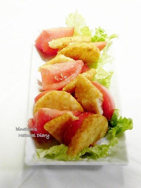 トマト&ハッシュドポテトのおつまみ的サラダ とレシピブログさんの暮らしのアンテナ掲載のお知らせ♪