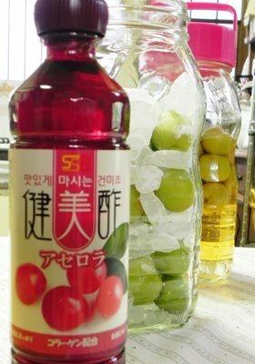 梅酢つくり 2本目はアセロラ酢で!