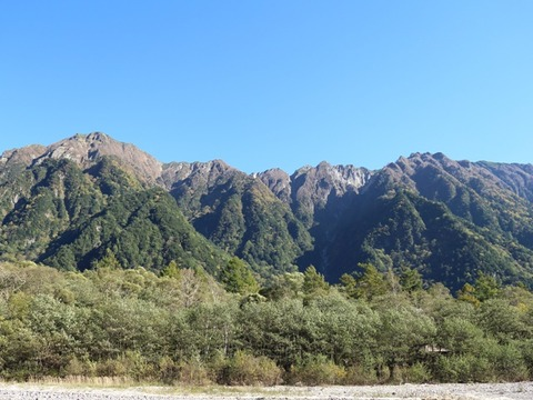 六百山と霞沢岳