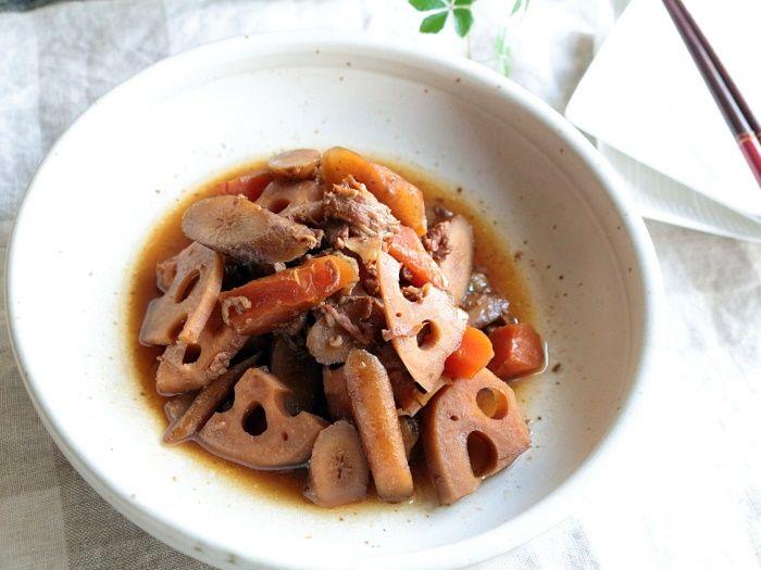 圧力鍋で作る「豚肉と根菜のきんぴら」