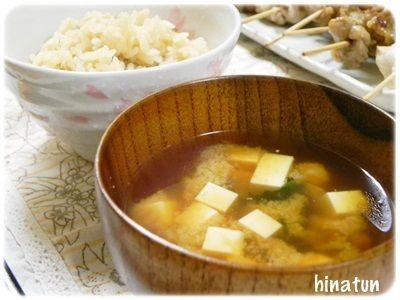 ひなちゅんの!なちゅらる日記-筍ご飯とお味噌汁